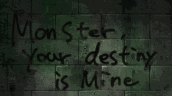 BEM - The murderer leaves behind a message - Monster, your destiny is mine
