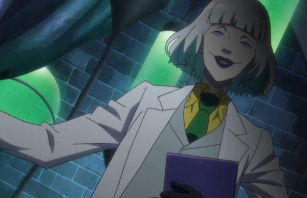 The mad professor like to wear goth lipstick