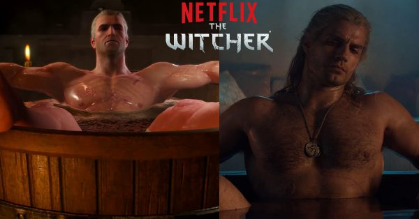 Bathtub Geralt - Witcher 3 Video Game and Netflix TV Show