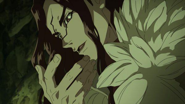Shishio discovers that the magic fluid is Nitric Acid