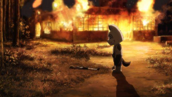 Kaguya rescues Aoki