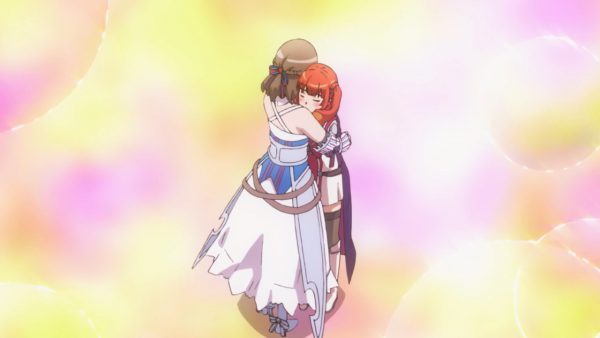 Mamako gives Wise a hug to help her remember her mother
