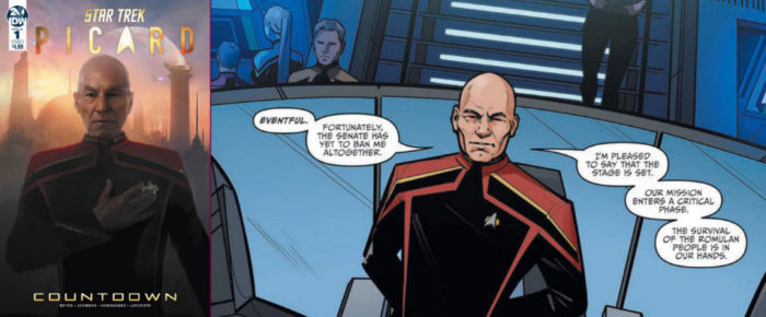 Star Trek Picard Comic Book Countdown