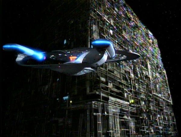 Star Trek Picard - Starfleet Starship and Borg Cube