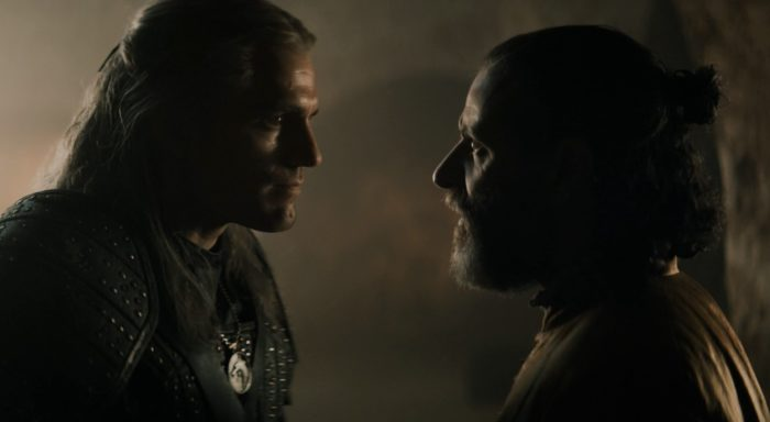 The Witcher S01E07 - 02 Geralt chats to Mousesack about Ciri