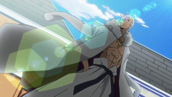 Hakuro or some other dude with white hair and a dragon picture on his back